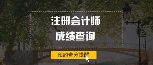 2018年注册会计师查分提醒.png